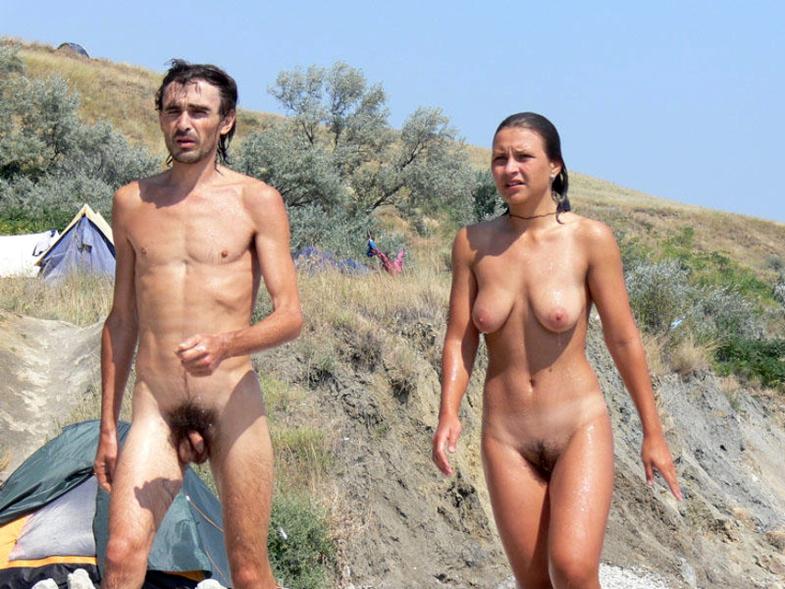 Floppy titties street naked